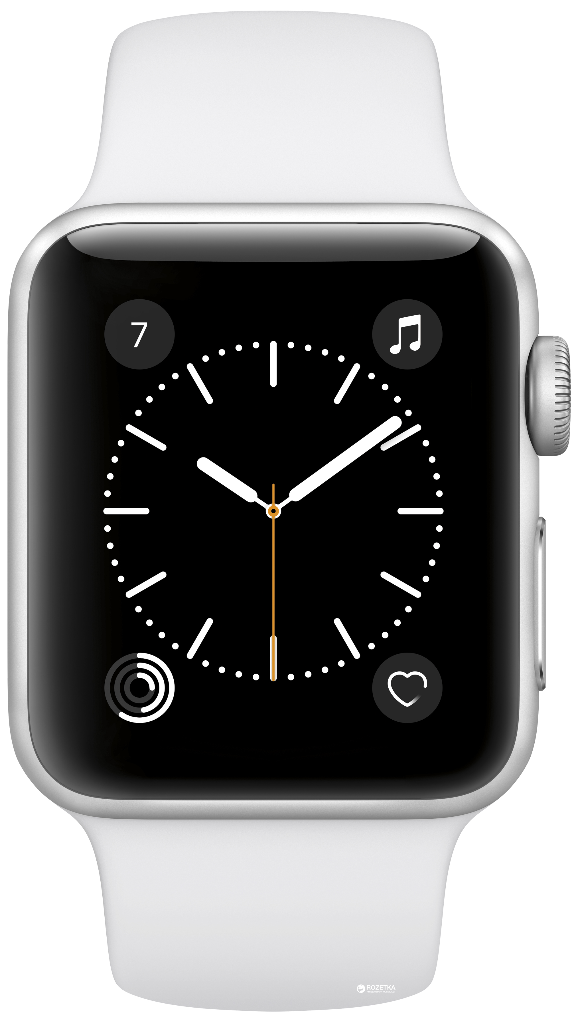 14b36753 Apple Watch Series 2 Sport 38mm Silver Aluminium Case with White Sport Band  (MNNW2)
