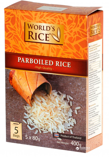 Рис World's Rice Парбоилд 5 х 80 г (4820009101005)
