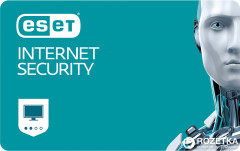 Антивирус ESET Internet Security (3 ПК) лицензия на 1 год Базовая
