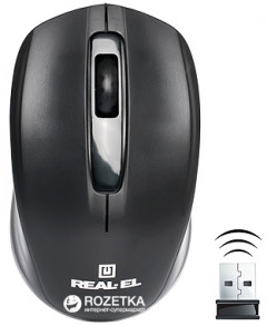 Мышь Real-El RM-304 Wireless Black