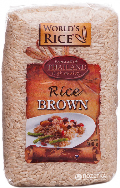 Рис World's Rice Натурал 500 г (4820009100213)