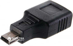 Адаптер Lapara Micro USB 2.0 A Female - Mini USB Male Black (LA-USB-AF-MiniUSB black)