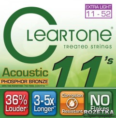 Cleartone 7411 Acoustic Phosphor Bronze Extra Light 11-52