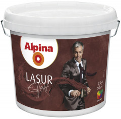 Декоративная краска Alpina Lasur Effekt Base 100112 Прозрачная 2.5 л