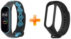 Xiaomi Mi Band 4 MiJobs Sport Black/Blue (MJ-5466BBL) + Черный ремешок в подарок!