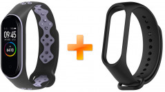 Xiaomi Mi Band 4 MiJobs Sport Black/Purple (MJ-5461BP) + Черный ремешок в подарок!