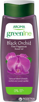 Гель для душа Aroma Greenline Shower Gel Black Orchid 400 мл (3800013526880)
