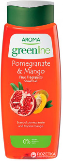 Гель для душа Aroma Greenline Shower Gel Pomegranate&Mango 400 мл (3800013526989)