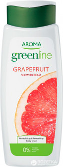 Крем-гель для душа Aroma Greenline Shower Cream Grapefruit 400 мл (3800013523384)