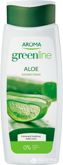 Крем-гель для душа Aroma Greenline Shower Cream Aloe 400 мл (3800013523483)