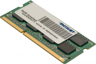 Оперативна пам'ять Patriot SODIMM DDR3-1600 4096MB PC3-12800 (PSD34G1600L81S)