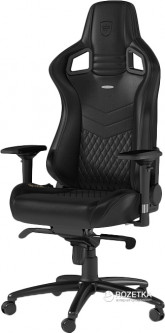Кресло геймерское NOBLECHAIRS Epic Series Real Leather Black (GAGC-033)