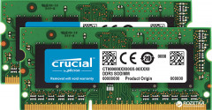 Оперативная память Crucial SODIMM DDR3L-1600 8192MB PC3-12800 (Kit of 2x4096) (CT2KIT51264BF160BJ)