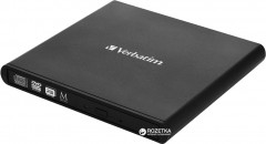 Verbatim External Slimline CD/DVD Writer (98938) + Verbatim M-DISC DVD-R 4.7 GB 4x Jewel Printable в подарок!