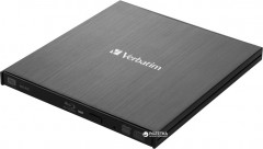 Verbatim External Slimline USB 3.0 Blu-ray Writer (43890) + Verbatim M-DISC DVD-R 4.7 GB 4x Jewel Printable в подарок !