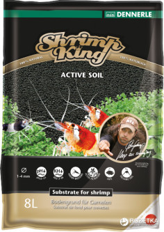 Грунт Dennerle Shrimp King Active Soil 1-4 мм 8 л (4001615061789)