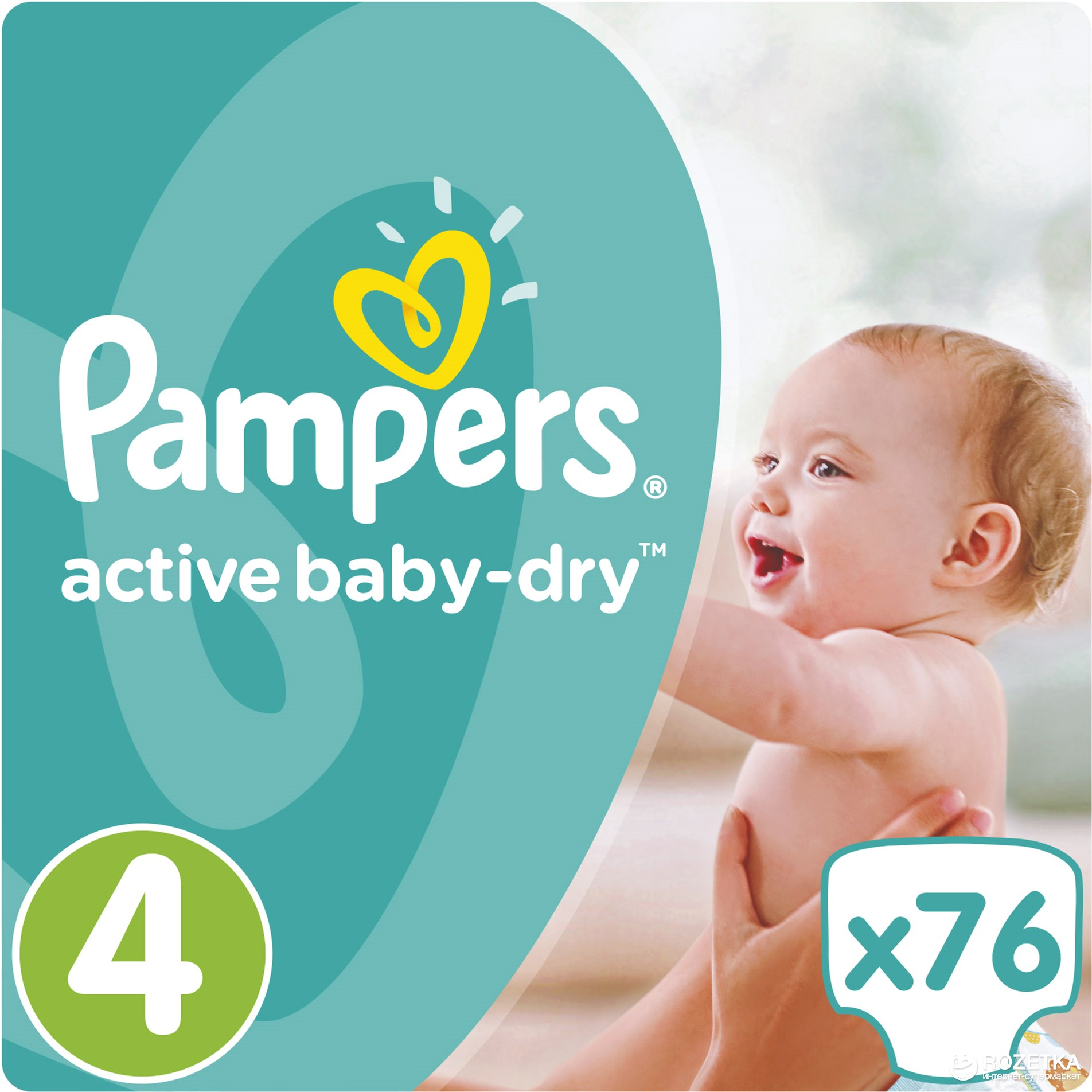873bb2277778 Rozetka.ua   Подгузники Pampers Active Baby-Dry Maxi 8-14 кг, 76 шт ...