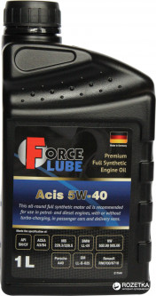 Моторное масло Force Lube Premium Full Synthetic Engine Oil Acis 5w40 1 л (162200105)
