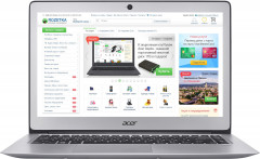 Ноутбук Acer Swift 3 SF314-51-37PU (NX.GKBEU.045) Sparkly Silver