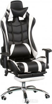 Кресло Special4You ExtremeRace with footrest Black/White (E4732)