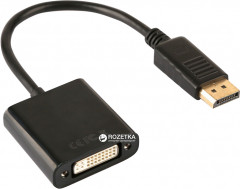 Переходник Value DisplayPort - DVI M/F 24+5 0.2 м (S0222)
