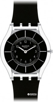 Женские часы SWATCH Black Classiness SFK361