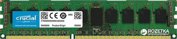 Память Crucial DDR3-1600 8192MB PC3-12800 ECC (CT102472BD160B)
