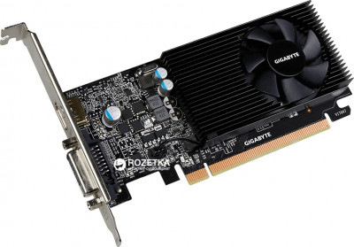 Gigabyte PCI-Ex GeForce GT 1030 Low Profile 2GB GDDR5 (64bit) (1227/6008) (DVI, HDMI) (GV-N1030D5-2GL)