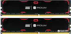 Оперативная память Goodram DDR4-2400 16384MB PC4-19200 (Kit of 2x8192) IRDM Black (IR-2400D464L15S/16GDC)