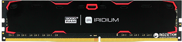 Оперативная память Goodram DDR4-2400 8192MB PC4-19200 IRDM Black (IR-2400D464L15S/8G)