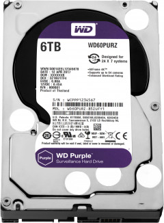 Жесткий диск Western Digital Purple 6TB 64MB 5400rpm WD60PURZ 3.5 SATA III
