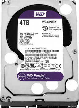 Жорсткий диск Western Digital Purple 4TB 64MB 5400rpm WD40PURZ 3.5 SATA III