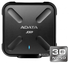 ADATA SD700 256GB USB 3.1 TLC Black (ASD700-256GU3-CBK) External