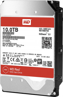 Жесткий диск Western Digital Red 10TB 5400rpm 256MB WD100EFAX 3.5 SATA III