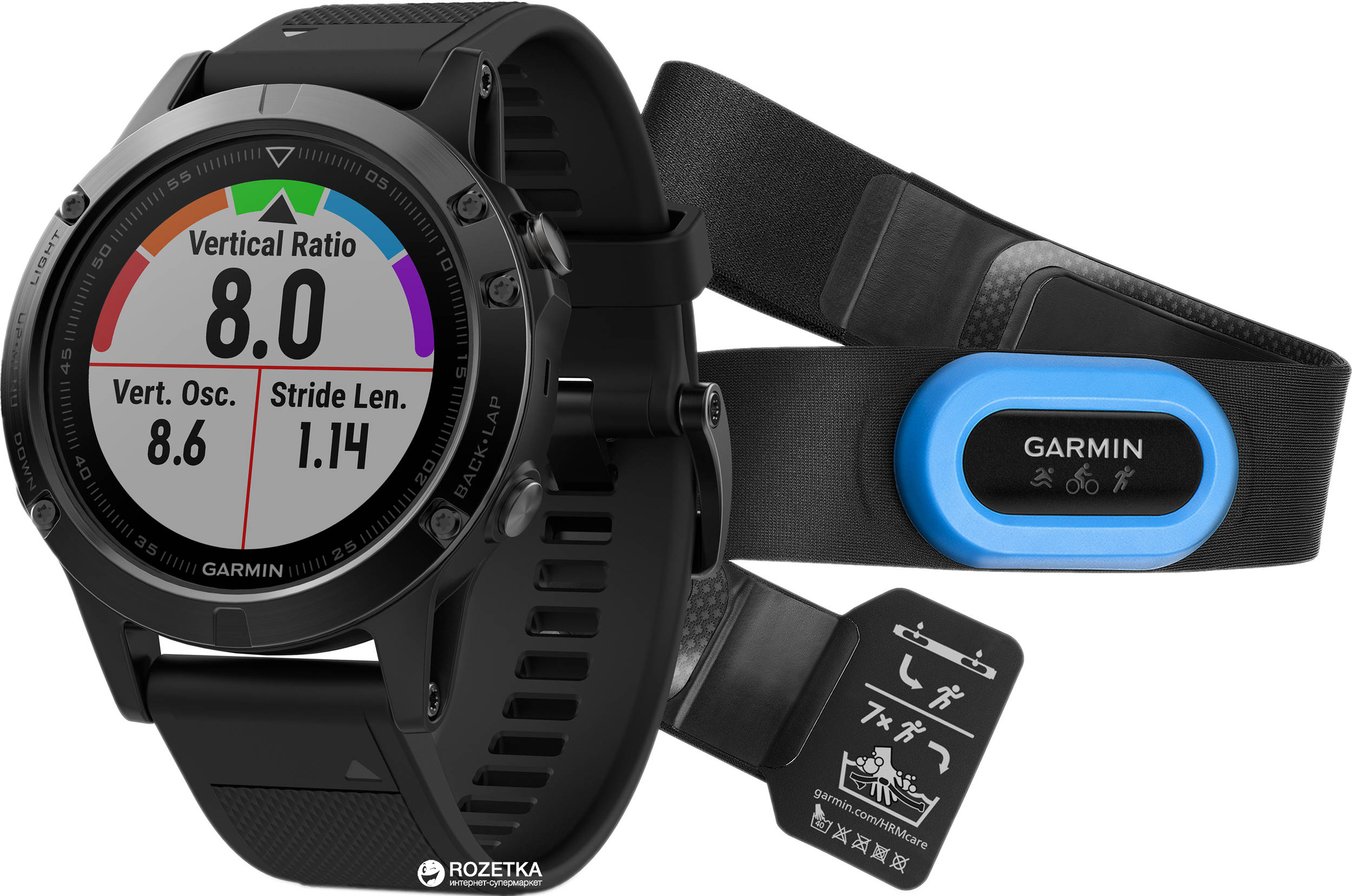 Спортивные часы Garmin Fenix 5 Sapphire Performer Bundle Black with Black  Band (010-01688 847029bce6338