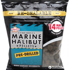 Пеллетс насадочный Dynamite Baits Marine Halibut Pre-Drilled Pellets 14 мм 350 г (SMDY094)