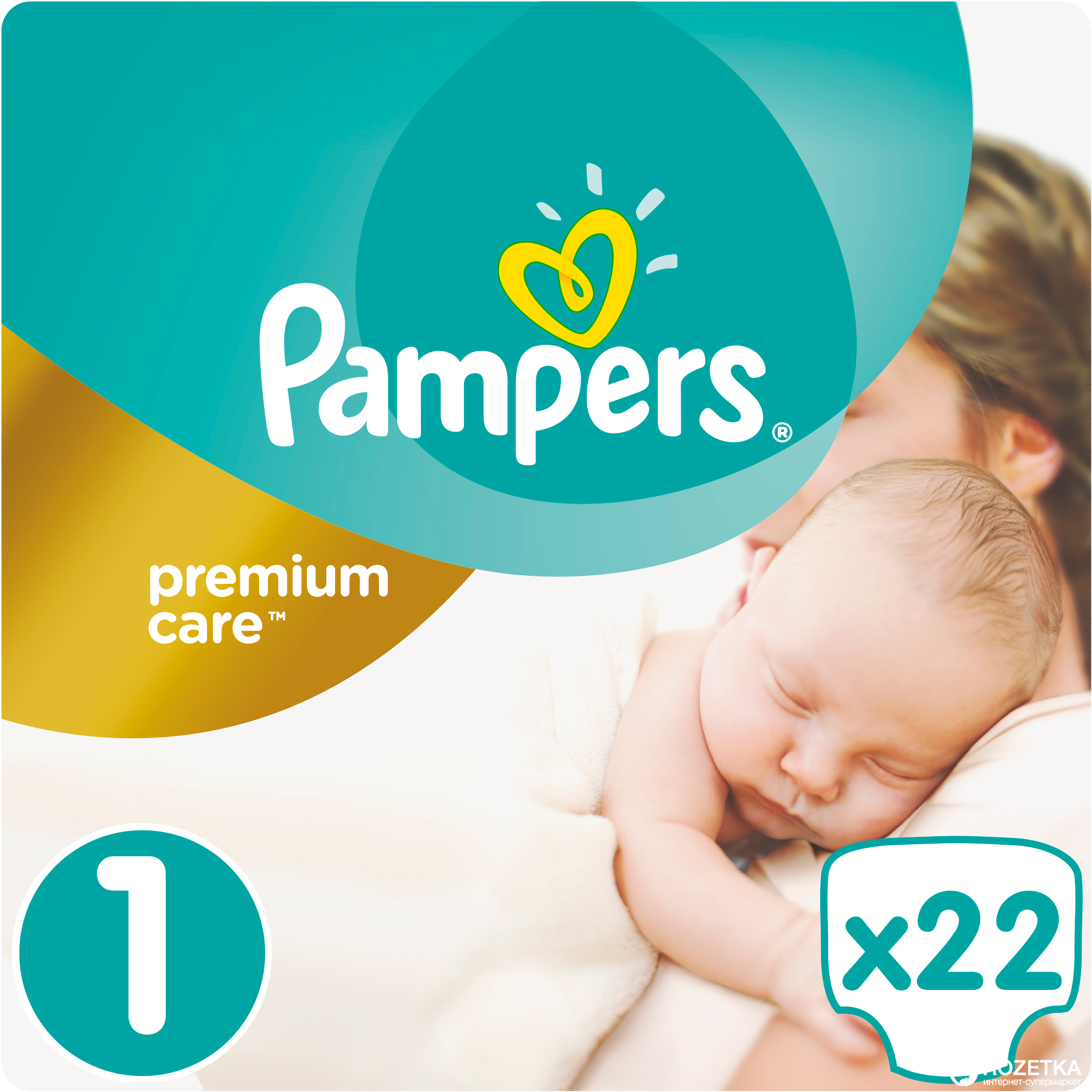 Rozetka.ua   Подгузники Pampers Premium Care Newborn 2-5 кг, 22 шт ... ab43435423b