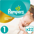 Подгузники Pampers Premium Care Newborn 2-5 кг, 22 шт (4015400687696)