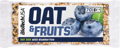 Батончик Biotech OAT and Fruits 70 г Черника (5999076206230)