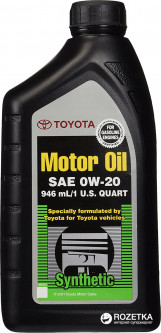 Моторное масло Toyota Motor Oil 0W-20 Synthetic 0.946 л (00279-0WQTE)
