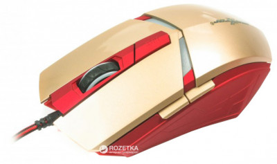 Миша Maxxter G1 IRON CLAW USB Gold/Red