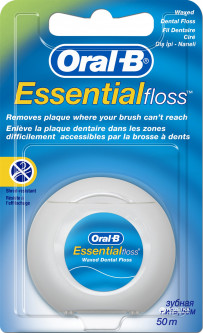 Зубная нить Oral-B Essential Мятная 50 м (3014260280772)