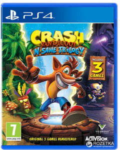 Crash Bandicoot N'sane Trilogy (PS4, английская версия)