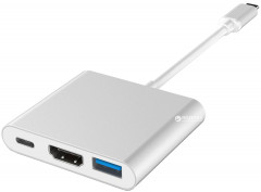 Адаптер Protech Multiport Adapter USB 3.1 Type-C - USB 3.1 Type C / HDMI / USB 3.0 (AD-3185)