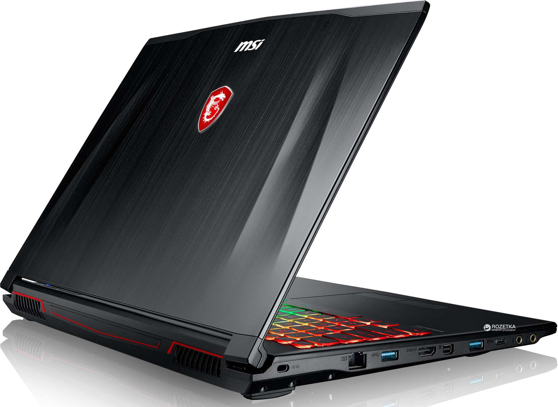 Ноутбук MSI GP62M 7RDX-1659RU 9S7-16J9B2-1659 (Intel Core i7-7700HQ 2.8 GHz/8192Mb/1000Gb/nVidia GeForce GTX 1050 4096Mb/Wi-Fi/Bluetooth/Cam/15.6/1920x1080/Windows 10 64-bit)