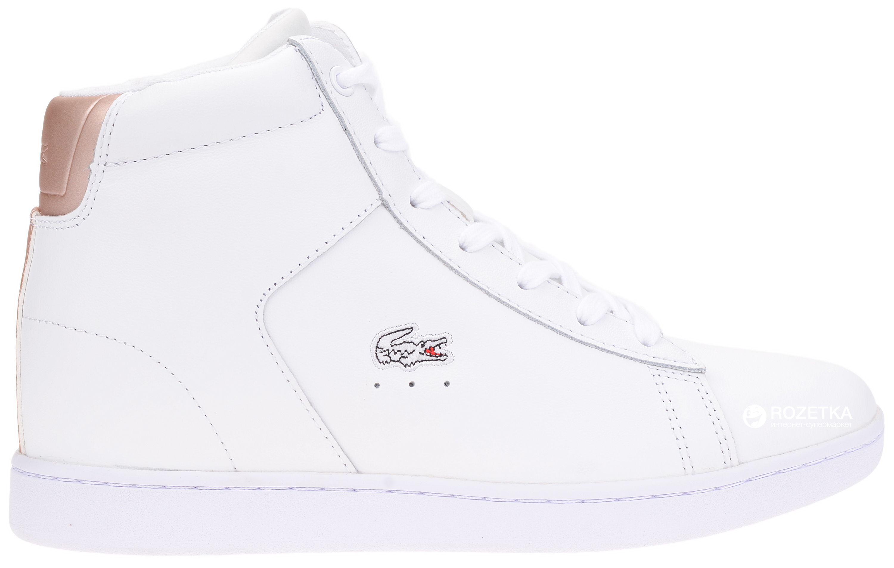 1fae8275869df Кеды Lacoste Carnaby Evo Wedge 317 3 734SPW0016001 39.5 (T6.5) 26 см