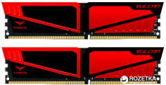 Оперативная память Team T-Force Vulcan DDR4-2666 32768MB PC-21300 (Kit of 2x16384) Red HS (TLRED432G2666HC15BDC01)