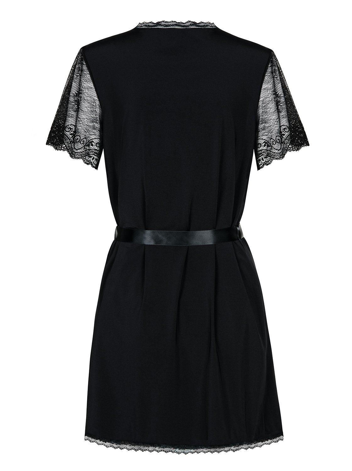 Пеньюар Obsessive Satinia robe Black, размер S/M