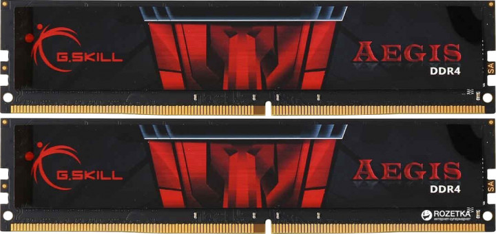 Оперативная память G.Skill DDR4-2400 8192MB PC4-19200 (Kit of 2x4096) Aegis (F4-2400C15D-8GIS)
