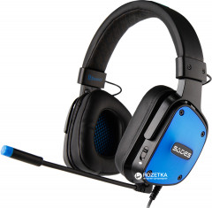 Sades SA-722 Dpower Stereo Gaming Headphone/Headset with Microphone Black/Blue (SA722-B-BL)